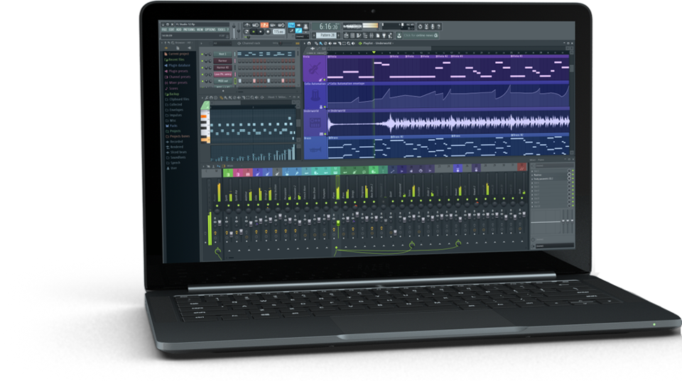 MacBook Pro con FL Studio